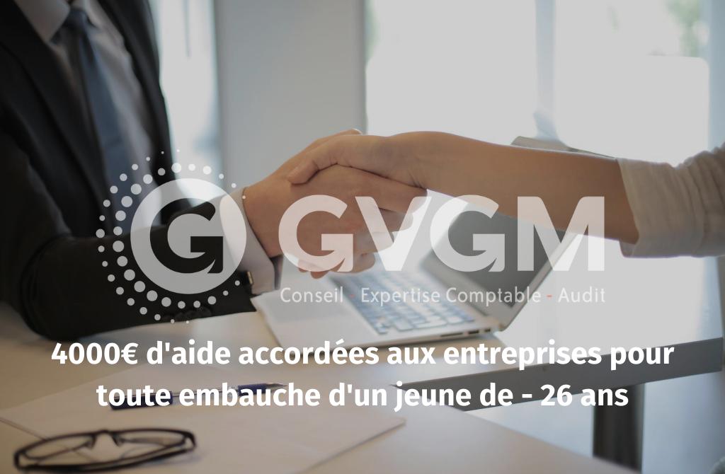 4000€ d'aide pour l'embauche d'un jeune de moins de 26 ans | GVGM - Expert Comptable Roanne ...